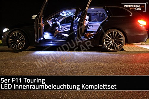 LED Innenraumbeleuchtung SET fü r 5er F11 Touring - Cool-White - kein Panoramadach IndividualiseYourCar