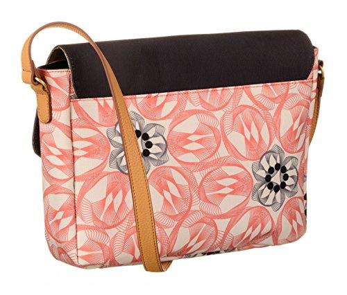 Oilily Flower Swirl M Shoulder Bag Rosa Flamingo