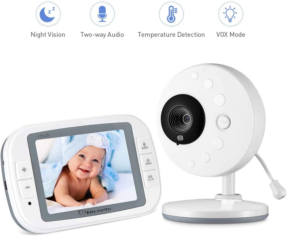 Vigilabebés Inalámbrico Cámara Vigilancia Bebe con LCD 3.5