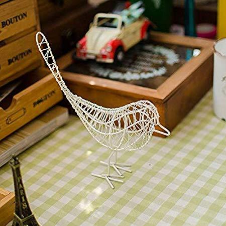 Nattel Figurines Miniatures - Garden Wrought Iron Bird Ornaments Gift Crafts Metal Craft Wire Home Living Room Decoration Black - Artificial Metal Flowers Wrought Nordic Room Mediter Angered Black De