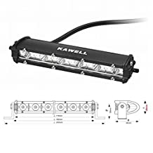 "KAWELL® 18W 8.5"" CREE Ultra-thin 30 Degree LED Spot Light for Jeep/truck/atv/suv"
