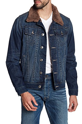 True Religion Men's Sherpa Trucker Jacket-Stand Still-2XL (True Religion Jean Jacket)