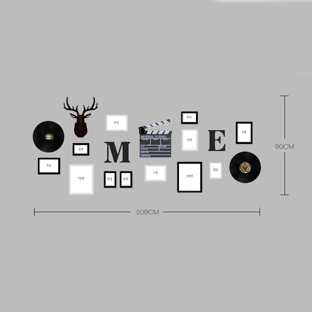 LQQGXL Code Fotorahmen Massivholz Collage Kombination Wohnzimmer ...