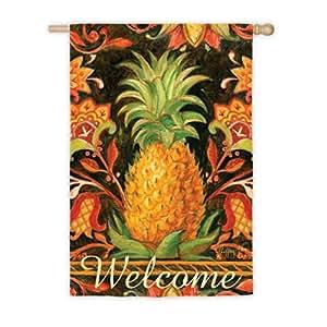 Welcome Tropical piña ante Reflections casa bandera