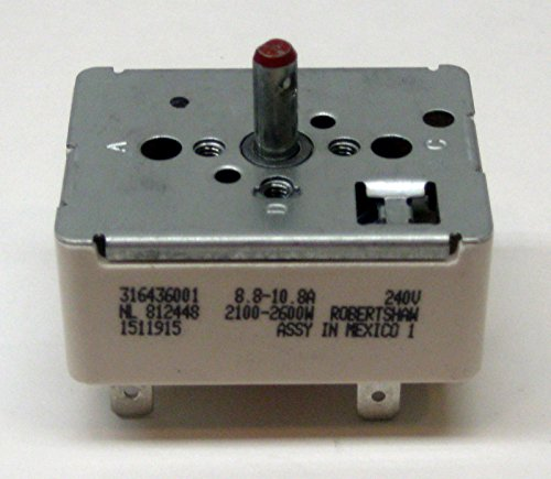 MAYITOP WB24T10025 for GE Electric Range Burner Unit Infinite Switch AP2024072 PS236750 (8 Inch Burner Switch)