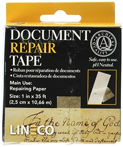 Lineco Archival Document Repair Tape 1 Inch By 35 Feet - Material Archival Lineco