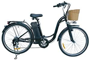 "Watseka XP Cargo-Electric Bicycle-26""-6 speed-Adult/Young Adult-Black"