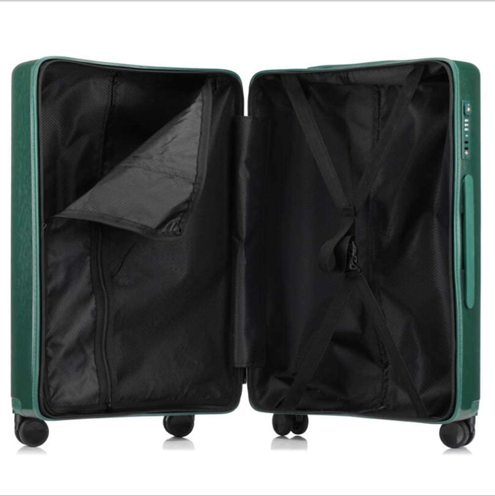 Durable Hidden Pull Bar and Strap CHERRIESU 20inch//24inch Luggage Trolley Case ABS Hard Shell Anti-Shock Padded Compartment Waterproof 4 360/° Wheels for Travelling