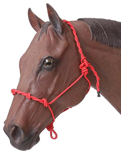 Tough 1 Knotted Rope & Twisted Crown Training Halter, Red ()