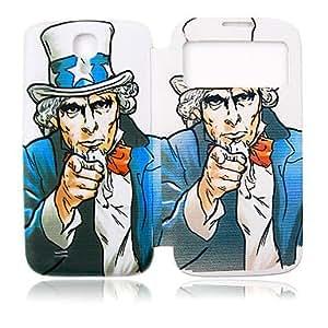 ZCL-Plastic tío Lleno de Administración para su Samsung i9500 Galaxy S4