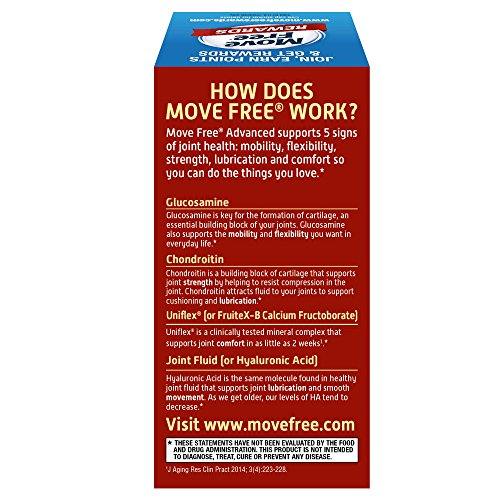 Glucosamine & Chondroitin Advanced Joint Health Supplement Tablets, Move Free (200 count in a bottle), Supports Mobility, Flexibility, Strength, Lubrication and Comfort by Move Free (Image #9)