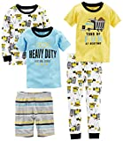 Carter's Boys' Toddler 5-Piece Cotton Snug-Fit Pajamas, Construction, 5T