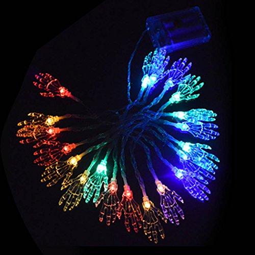 Coxeer Halloween Light LED Party Lamp Pumpkin Paw Spider Eyeball Decor Light