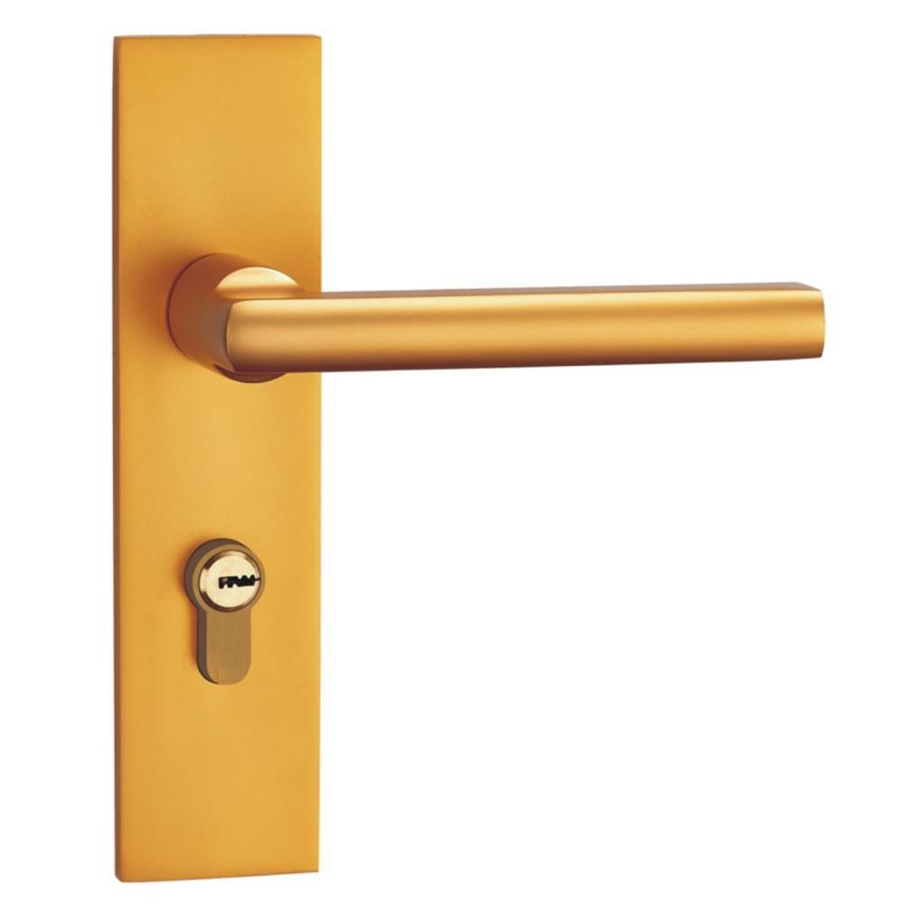 Daeou Space aluminum gold mute door lock interior lock bedroom door bathroom lock double tongue handle lock solid
