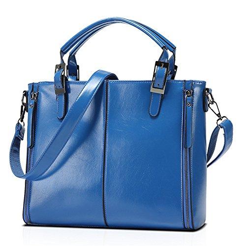 Match Simple Meaeo Bandoulière Laptop À À Simple Main Bleu À Unique Tous Bag Bandoulière Lumineuse Et Sac Huile Blue Sac Cire Sac qnO6wq4T