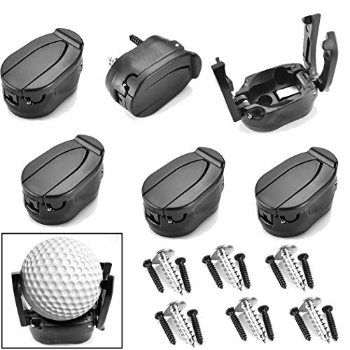 VintageBee 6 Pack Golf Ball Pick Up Tool Saver Putter Grip Retriever Mini Foldable Plastic Claw Grabber Sucker Golf Accessories