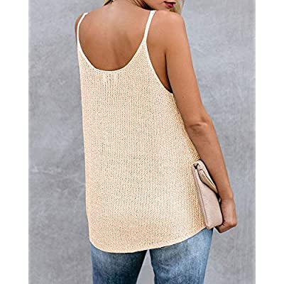 Women Oversize Scoop Neck Pullover Sleeveless Knit Shirts Tunic Tops Hot Summer Loose Fashion Knit Vest Shirts at Women's Clothing store