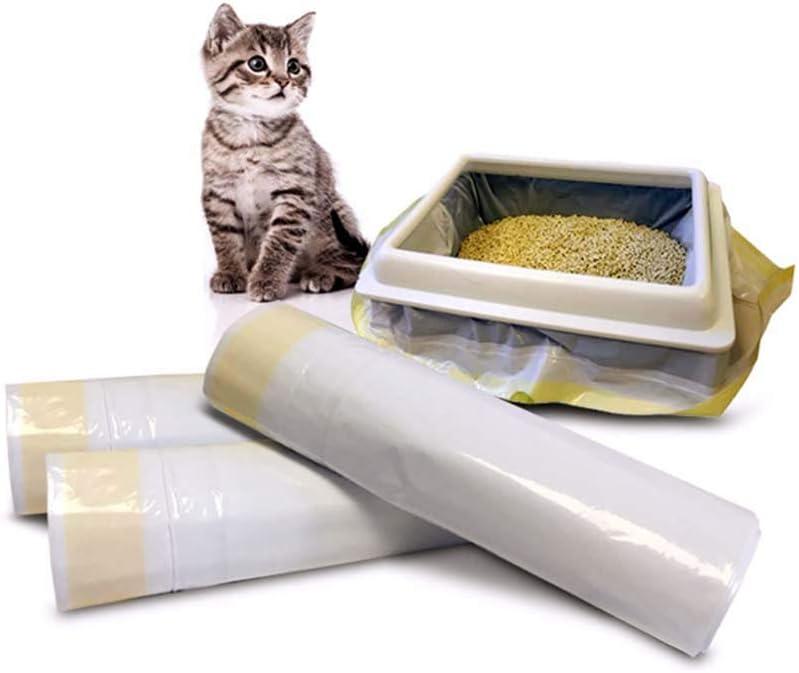 Rziioo Revestimientos de Gato Caja de Arena, Extra Grueso cordón de la litera del Gato Jumbo Bolsas Pan, Alimentos para Mascotas de residuos, en 37 x 18 in- 21 Conde: Amazon.es: Deportes