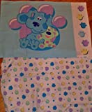 Blues Clues Crib Toddler Fitted Sheet and Pillowcase Bedding New