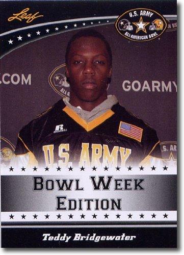 2011 Leaf US Army All-American Bowl Week Edition Prospect Card # East-02 Teddy Bridgewater QB - LOUISVILLE / Miami Northwestern High School (First Football Trading Card / Rookie Card)