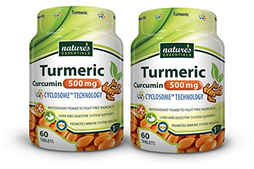 Nature's Essentials Turmeric-Curcumin Extract 500mg with Advanced Cyclosome™ Liposomal Delivery Technology - 60 Tablets (2 Pack) ()
