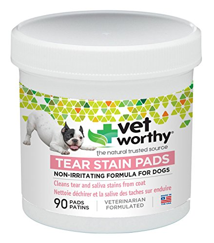 Vet Worthy Tear Stain Pads for Dogs (90 Count) For Sale