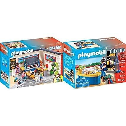Amazon.com: PLAYMOBIL 9455 Spielzeug-Klassenzimmer ...