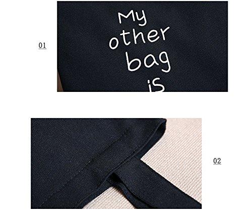 Mujer de Bolso negro Casual Tamaño Diseño Estilo Mano Multiusos para Negro TIANLU de Grande Cruz 5q6wIdqB