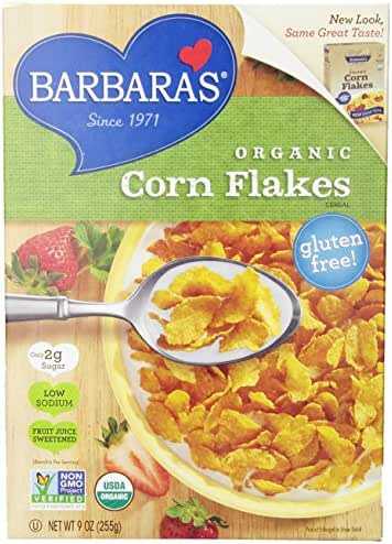 Breakfast Cereal: Barbara's Organic Corn Flakes