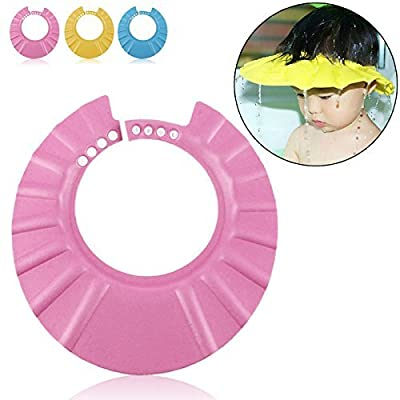 Safe Shampoo Shower Bathing Protection Soft Cap Hat for Kids to Keep the Water Out of Their Eyes & Face