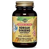 Solgar Standardized Full Potency Korean Ginseng Root Extract Vegetable Capsules, 60 Count