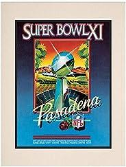 "1977 Raiders vs Vikings 10.5"" x 14"" Matted Super Bowl XI Program - NF"