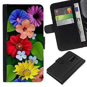 All Phone Most Case / Oferta Especial Cáscara Funda de cuero Monedero Cubierta de proteccion Caso / Wallet Case for LG G3 // Floral Spring Summer Flowers Mothers Day
