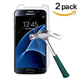 Image of TANTEK HD Ultra Clear Tempered Glass Screen Protector for Samsung Galaxy S7 (2 Pack)