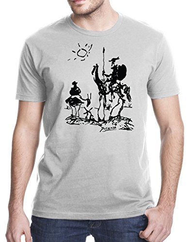 Picasso Don Quixote T-Shirt, Large, Heather - Quixote Don Paintings