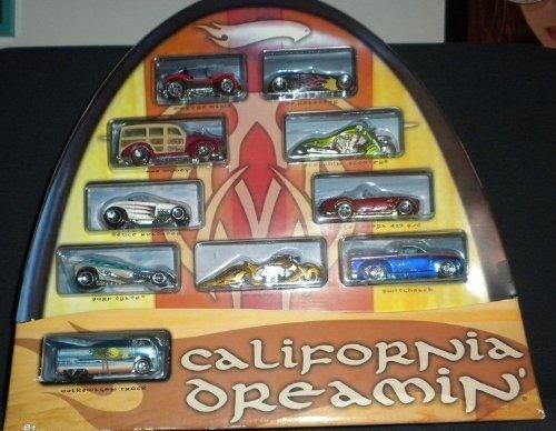 Hot Wheels California Dreamin' HUGE 10 Car Scale Set / 1:64 Scale Car - New and Sealed!! by Hot Wheels Hot Wheels b754da