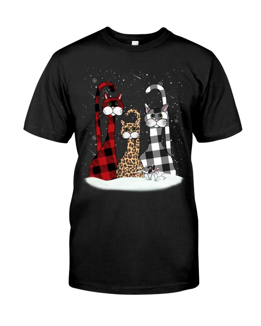 Three Cute Cats Merry Christmas Ca Cat For Ca For Cat Owner Cat Mom Cat Dad Cat Lover Cat Gift For Girls T Shirt