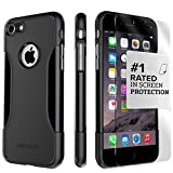iPhone 7 Case, (Black) SaharaCase Protective Kit Bundle with [ZeroDamage Tempered Glass Screen Protector] Rugged Protection Anti-Slip Grip [Shockproof Bumper] Slim Fit - Black