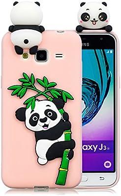 4ef934bdb49 Leton Funda para Samsung Grand Prime G530 Silicona Panda 3D Suave Flexible  TPU Carcasa Galaxy Grand Prime Ultra Delgado Gel Antigolpes Goma Cubierta  Case ...