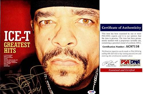 Ice-T Signed - Autographed Greatest Hits Rap LP Record Album Cover with Certificate of Authenticity (COA) - PSA/DNA Certified
