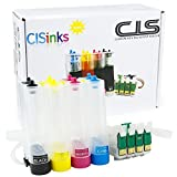 CISinks Empty Continuous Ink Supply System for Epson Workforce WF-3620 WF-3640 WF-7110 WF-7620 - for Pigment or Sublimation ink - CIS CISS
