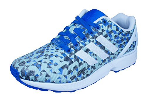 adidas ZX Flux, Men's Running Shoes Weave Blue White Red