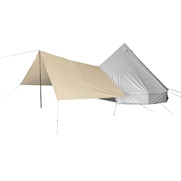 Playdo Canvas Bell Tent Awning Family Tent Sun Shelter Awning Canopy with Poles for Outdoor C&ing  sc 1 st  Amazon.com & Amazon.com: Playdo Canvas Bell Tent Awning Family Tent Sun Shelter ...