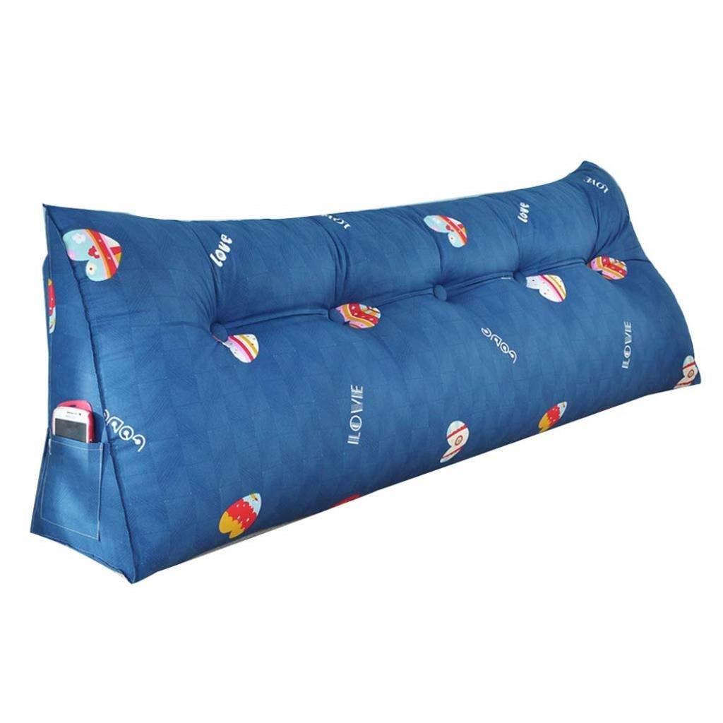 RDMZ Bedside Cushion, Long Pillow, Soft Bag, Triangle, Double Back, Waist, Backrest, Tatami Bed, Large Cushion (Color : C, Size : 180 cm)