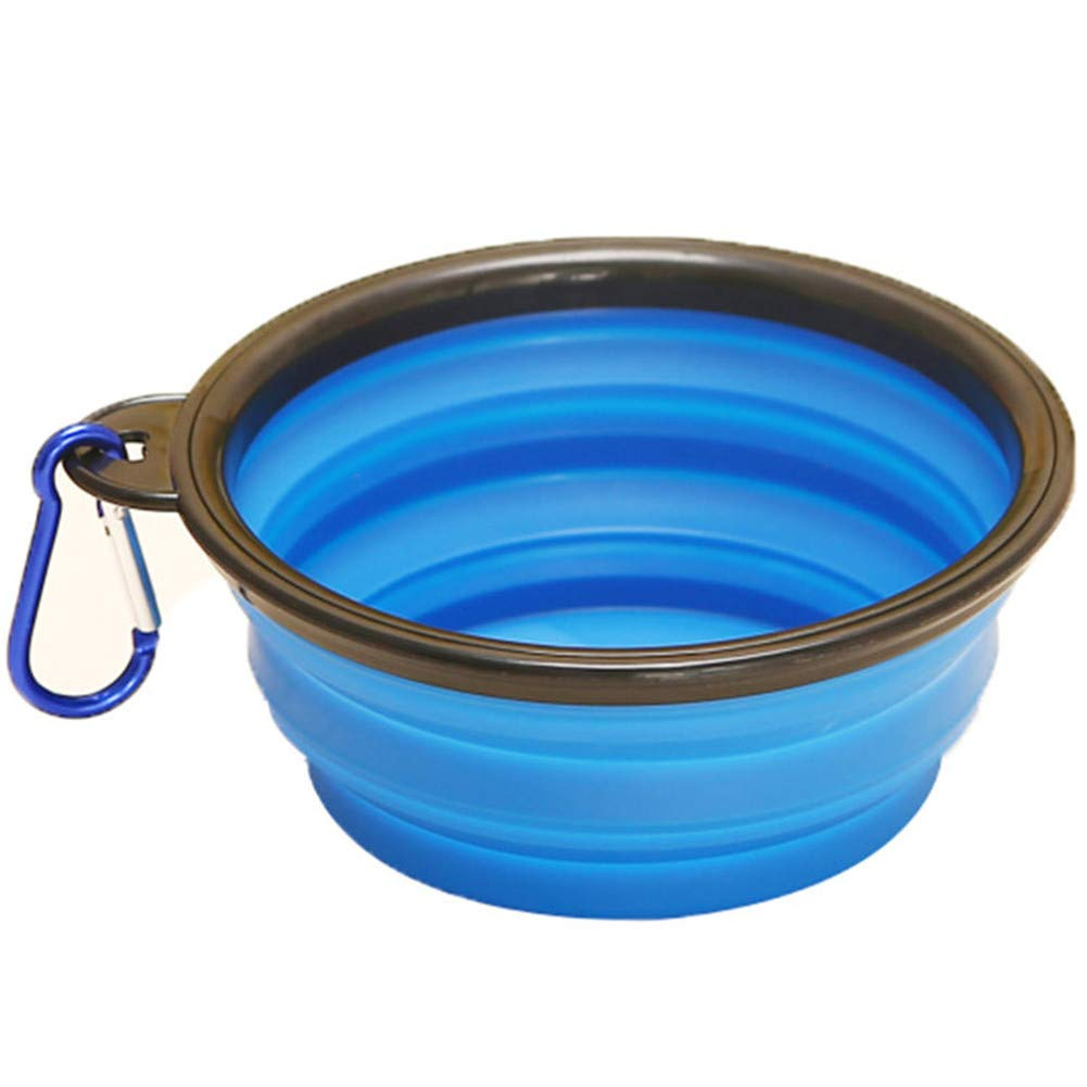 FOREVER-YOU Dog Cats go Out to Drink Dogs Bowl Pet Outdoor Walk Dog Folding Silicone Bowl