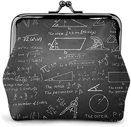 ホワイトサン がま口 財布 小銭入れ 公式 数学 11.5cm×10.5cm×3cm レザー 小物入れ コインケース