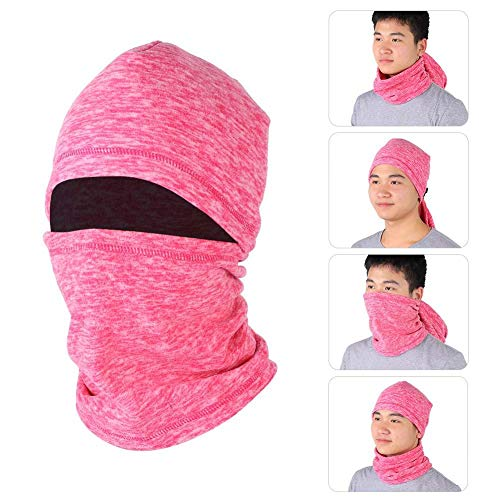 Vbestlife Winter Ski Mask Balaclava Windproof Thermal Full Face Mask Neck Warmer Outdoors Helmet Liner Mask Face Cover Motorcycle Cycling Bike Bandana for Women Men Youth 9 Colors (Rose Red)