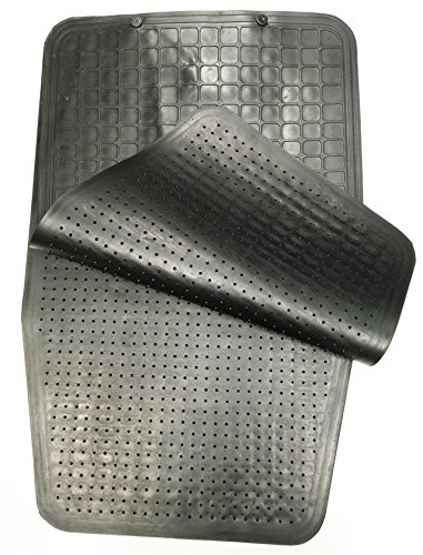 NEW BLACK CAR MATS ALL RUBBER LONG UPGRADE PROTECTOR MPV VAN CARAVAN