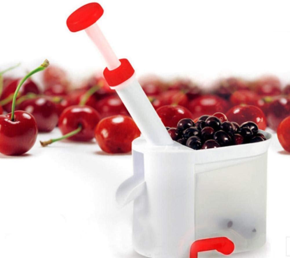 Fruit Corers with Non-Slip Bottom Cherry Stoner Core Remover Multifunctional Cherry Stoner Household Kitchen Fruit Pitting Tool for Cherries Olive Cherry Pitter