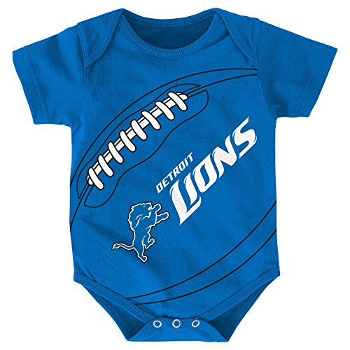 NFL Detroit Lions Creeper, 12 Months, Lion Blue
